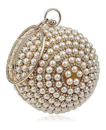 Flada Bolso De Perlas De Mujer De Lujo Con Cuentas De