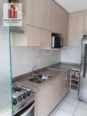 Apartamento Todo Mobiliado Com 2 Dormitórios À Venda, 49 M² Por R$ 218.000 - Cidade Líder - São Paulo/sp - Ap1072