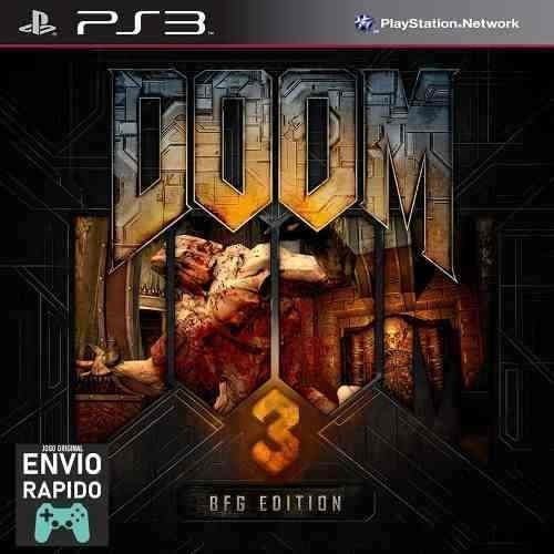 Doom 3 Bfg Edition + Todas As Dlcs - Jogos Ps3 Original