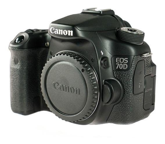 Canon Eos 70d (corpo) + 1 Baterias+ Alça