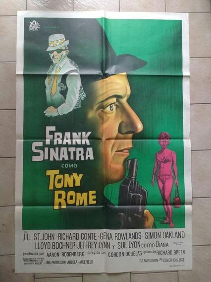 Antiguo Afiche Original D Cine- Tony Rome Frank Sinatra
