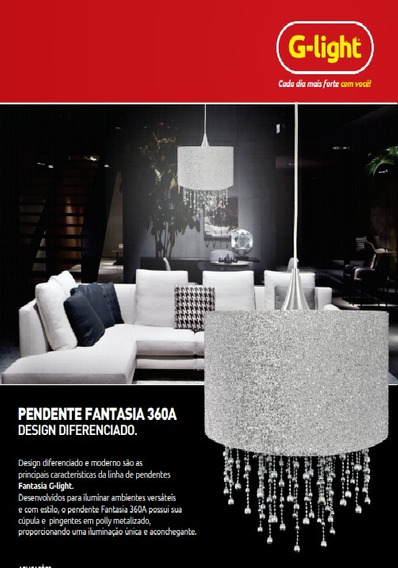 Lustre Pendente Fantasia 360-a Polly Metalizado G-light