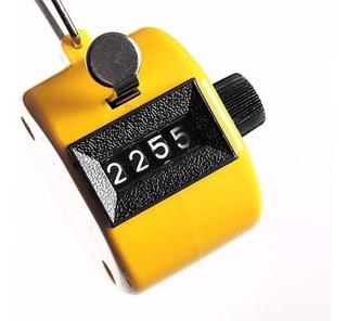 Contador Manual 4 Digitos Con Retroceso Amarillo