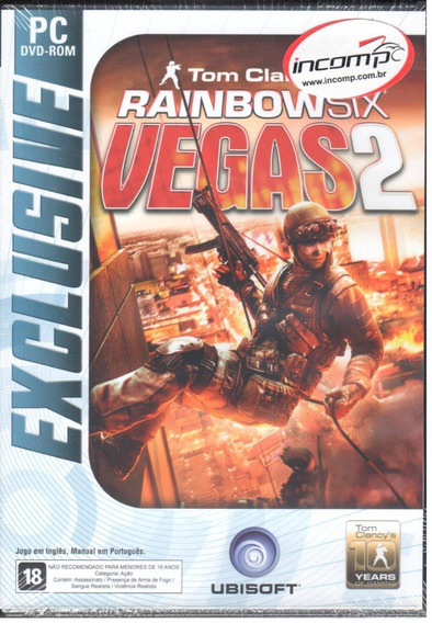 Rainbow Six Vegas 2 Jogo Pc Original Mídia Física Lacrado