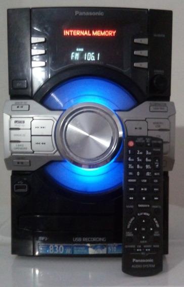 Panasonic Sa-akx56 830 Rms Bi Amplificado Cd Usb Radio Am-fm