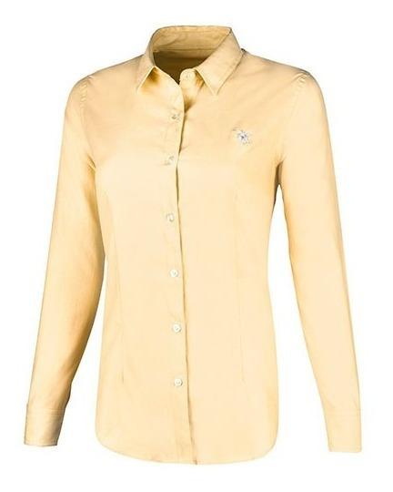 Camisa Polo Club Formal Mlarga Dama Alg Amarillo 67387 Udt