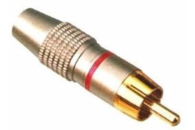Plug Rca Macho * Metalico * Especial * Vermelho (lote 10pçs)