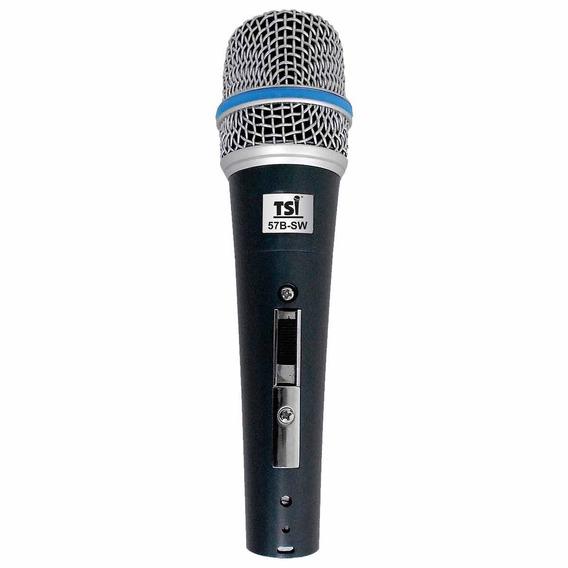 Microfone C/ Fio De Mão Dinâmico - 57 B-sw Tsi