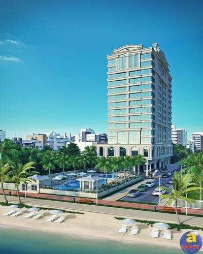 Imagem 1 de 19 de Apartamento De Luxo Frente Mar Na Meia Praia - Imobiliária África - Itapema/sc - Ap00270 - 69362496