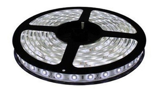 Cinta Tira Led Blanco Frio 5mts + Transformador De Luces