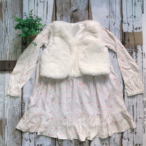 Vestido Infantil Feminino Inverno 2 Peças Menina Colorittá