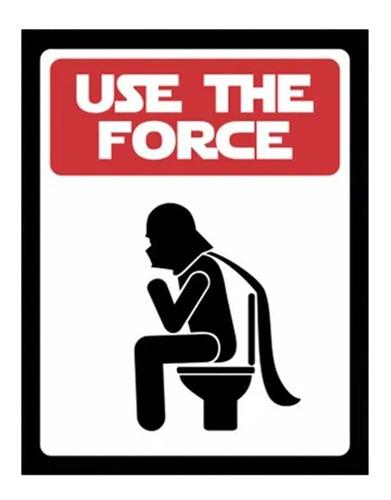 Placa Decorativa Quadro Geek Star Wars Use The Force