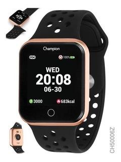 Relogio Champion Smartwatch Preto/rose 1 Ano Garantia