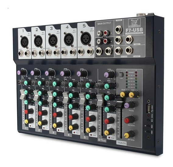 Mesa 7 Channel Professional Stage Áudio Usb
