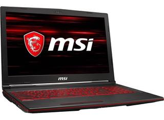 Notebook Msi Gl73 I7 9na 8gb Ssd256 Gtx1050ti 4gb 17,3pulg