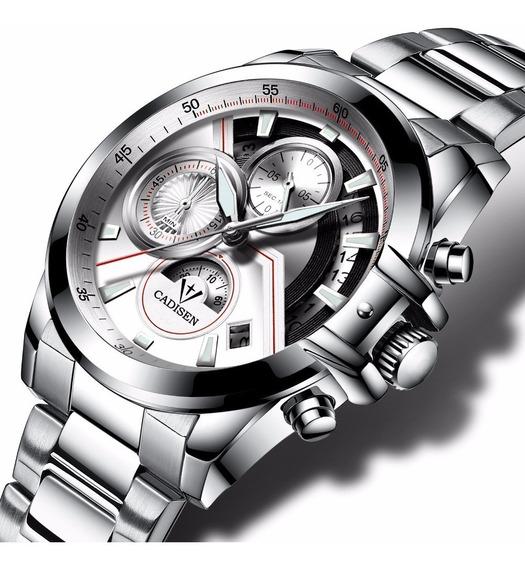 Relógio Pulso - Cadisen - 42mm Quartzo - Vidro Hardlex