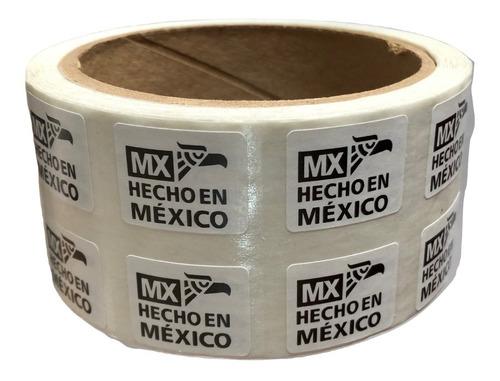 Imagen 1 de 2 de 1000 Etiquetas Autoadheribles Hecho En Mexico De 9x13mm