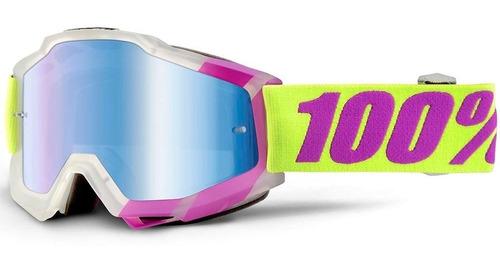 Óculos Proteção Off Road 100% Tootaloo Accuri Lente Azul
