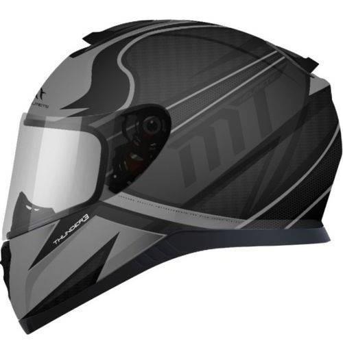 Capacete Moto Mt Thunder 3 Cap Cinza Fosco