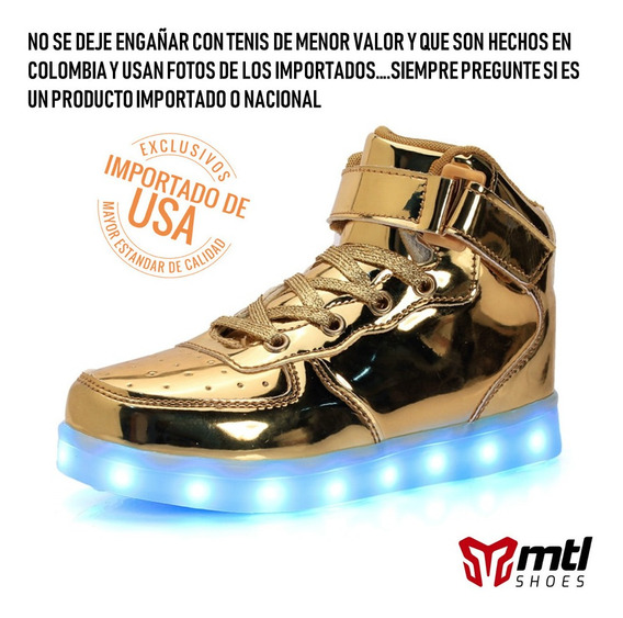 Zapato Tenis Led (luces - Luminosos) Importados De Usa