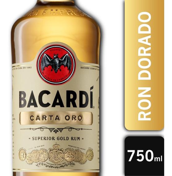 Botella Ron Bacardi Gold Superior Carta Oro 750ml