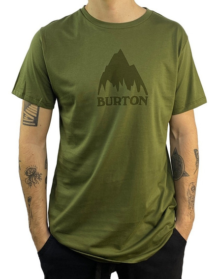 Remera Burton Mc Classic Mountain Logo Pima