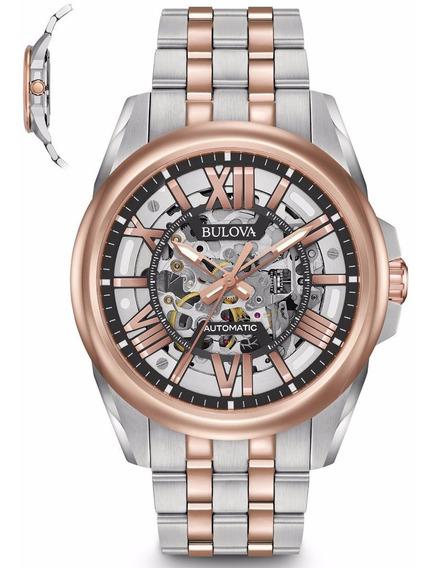 Relógio Bulova Masculino Automático Wb31998s 98a166 Esquelet