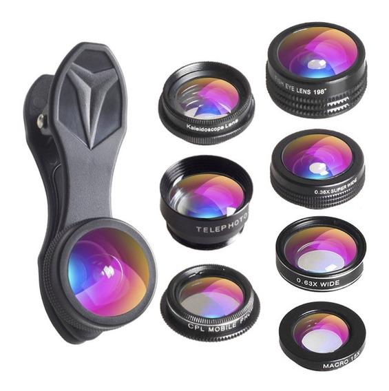 Binden Kit De Lentes Para Celular Profesional Apexel 7 En 1 Hd Gran Angular, Ojo De Pez, Macro, Zoom, Caleidoscopio