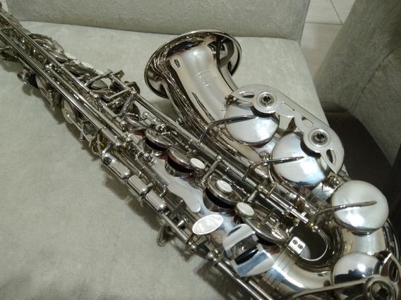 Saxofone Alto Hoyden Niquelado Mib - Zerado Novinho Top-