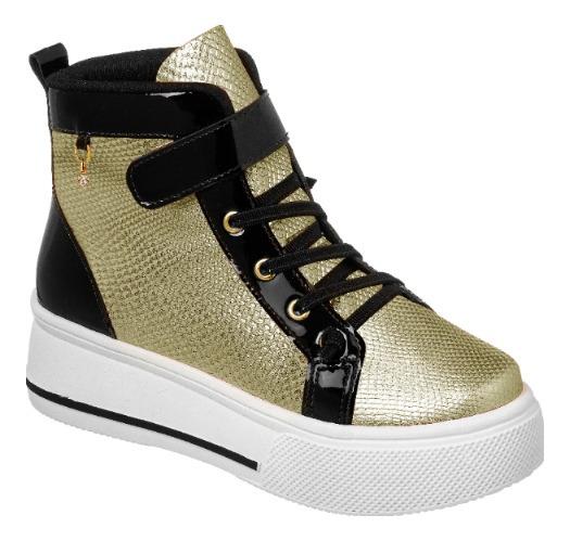 Tênis Magia De Criança Sneakers Dourado 196.003-416