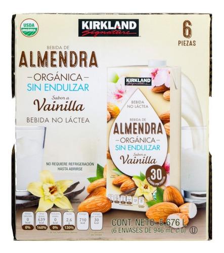 Imagen 1 de 3 de Bebida De Almendra Orgánica Sabor Vainilla Kirkland 6x946ml
