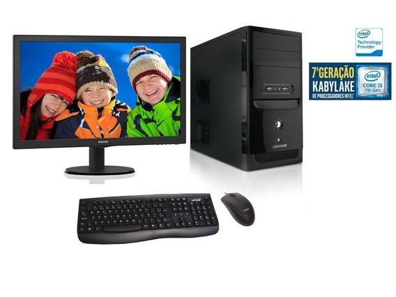 Computador Com Monitor Centrium - Core I3-7100 + 4gb + 500gb
