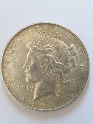Imagen 1 de 4 de Monedas Mundiales : Usa Dolar Peace Plata  1922