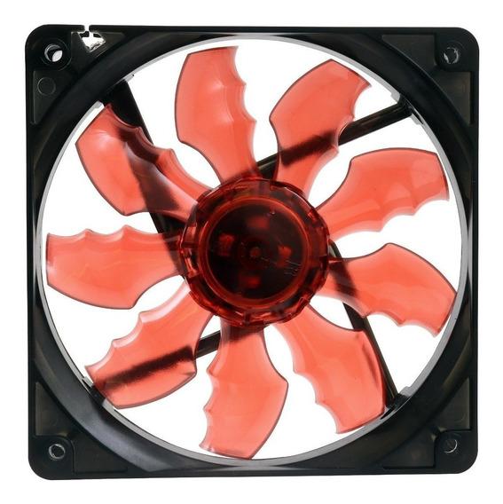 Cooler Gamer 120cm 4 Led Gabinete Vermelho 12v 3 Ou 4 Pinos