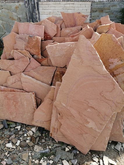 Piedra Laja Para Fachada Salmón O Canela