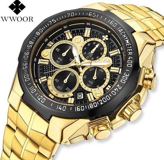 Relógio Wwoor Original Com Box .
