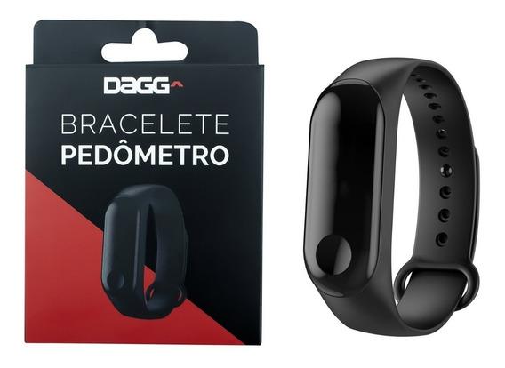 Relógio Dagg Bracelete Pedômetro Inteligente Bluetooth Preto