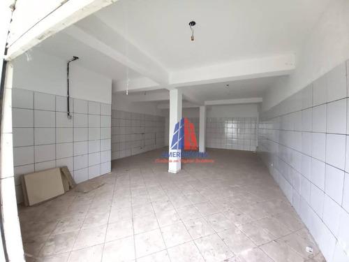 Imagem 1 de 8 de Salão Para Alugar, 70 M² Por R$ 750,00/mês - Parque Residencial Jaguari - Americana/sp - Sl0203