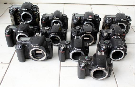 Lote 12 Câmeras Digitais Dslr Sucatas P/ Retirada De Peças