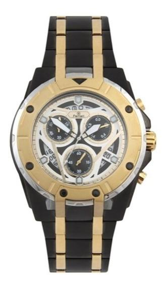 Relógio Ferrari Masc Preto/dourado T13ko68 Original Barato