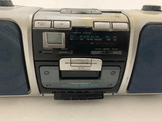 Som Radio Akai Aj-c050pw Cd Não Funciona, Resto Funciona Bem