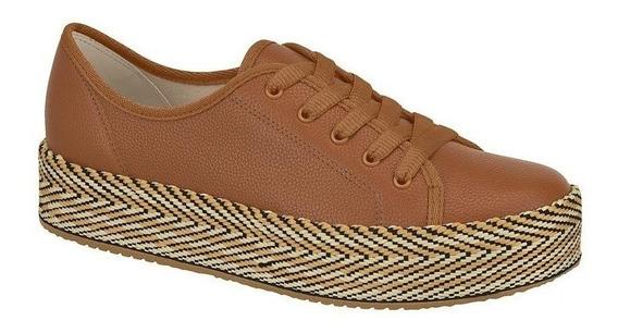 Sapato Tênis Feminino Oxford Caramelo Cour Beira Rio P C+