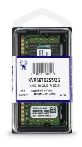 Memoria Kingston 2gb Ddr2 667mhz 1.8v Kvr667d2s5/2g Ddr2
