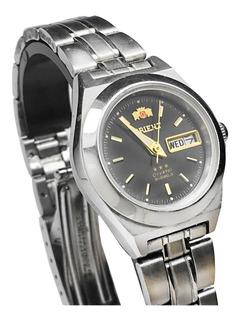 Reloj Orient Mujer Analógico Automatico Acero 3 Estrellas