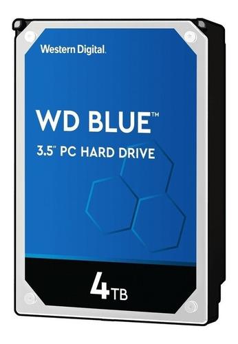 Imagen 1 de 3 de Disco duro interno Western Digital  WD40EZRZ 4TB azul
