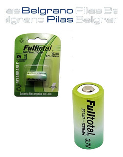 Pila Fulltotal Cr123a 3.7v 700mah Litio Recargable 16340