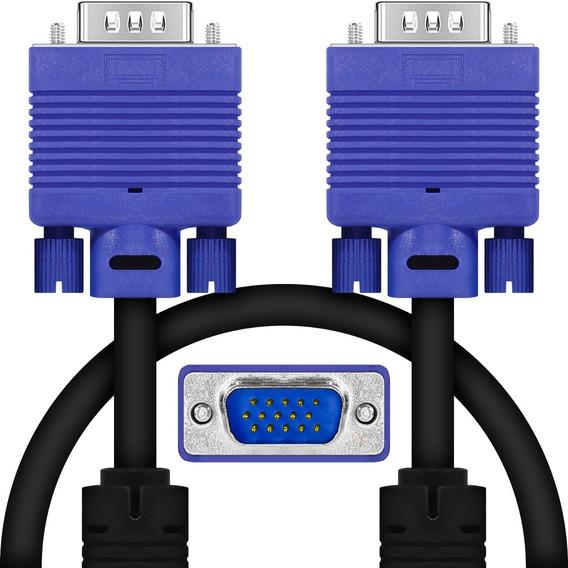 Cabo Vga Para Monitor Lcd Pc Tv Led Projetor Notebook 2 Mts