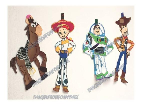Fiesta Toy Story Woody Buz Figuras Foamy Fomy Adorno Fiestas