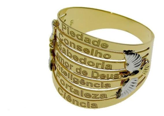 Anel Em Ouro 18k Sete Dons Do Espírito Santo Na913769