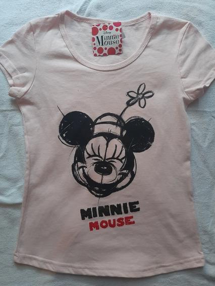 Playera Disney Minnie Mouse Para Niña Talla 12, 14 Y 16